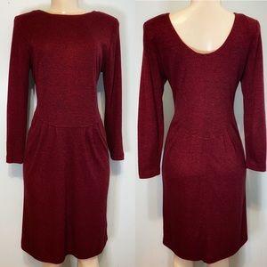 Vintage Diane Von Furstenberg Burgundy Dress